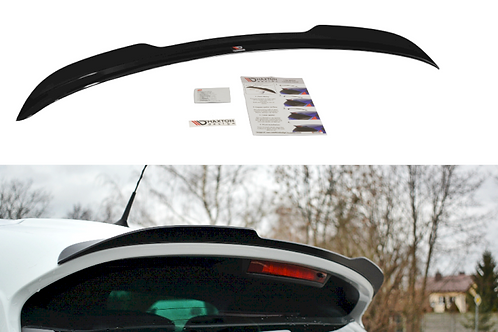 Maxton Gloss Black SPOILER CAP RENAULT CLIO MK4 RS (2013-2019)