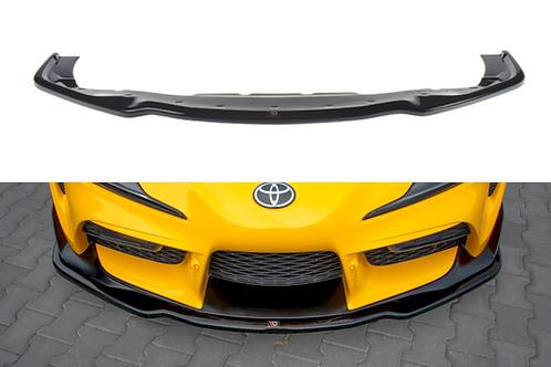 MAXTON GLOSS BLACK FRONT SPLITTER V.2 TOYOTA SUPRA MK5 (2019-)