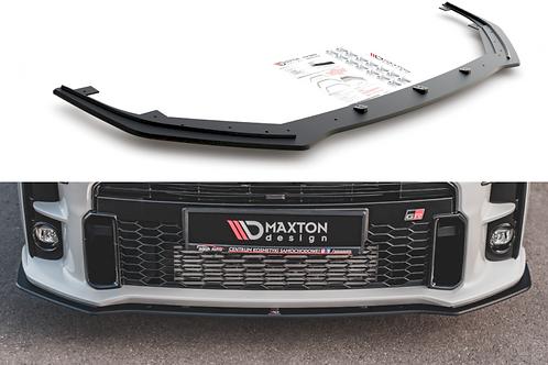 MAXTON DESIGN BLACK RACING DURABILITY FRONT SPLITTER TOYOTA GR YARIS MK4