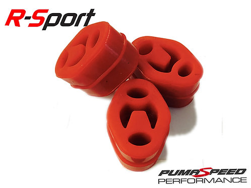 R-Sport Red Uprated Silicone Exhaust Mount Set