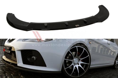 GLOSS BLACK FRONT SPLITTER SEAT LEON MK2 CUPRA FR PREFACE