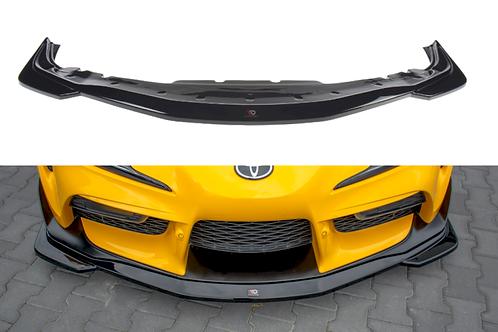 MAXTON GLOSS BLACK FRONT SPLITTER V.1 TOYOTA SUPRA MK5 (2019-)