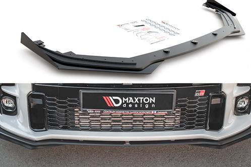 Maxton Design Matt Black w/ Flaps RACING DURABILITY FRONT SPLITTER GR YARIS