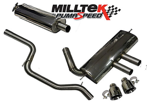 Milltek Sport Focus ST 250 Hatch Cat Back Exhaust (Half Resonated) Quieter