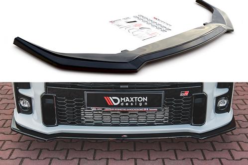 Maxton Design Gloss Black FRONT SPLITTER V1 TOYOTA GR YARIS MK4 (2020-)