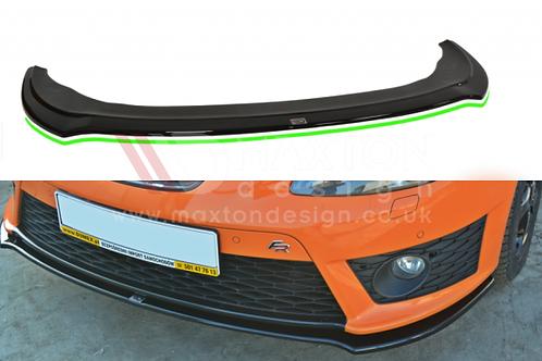 GLOSS BLACK FRONT SPLITTER V.2 SEAT LEON MK2 CUPRA / FR (FACELIFT)
