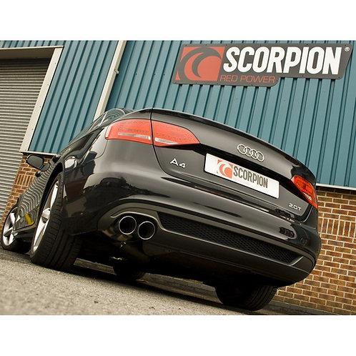 "Scorpion 2.5"" A4 B8 2.0 TFSi Resonated Cat-Back System"
