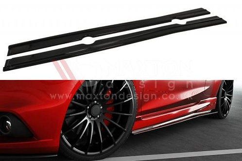 GLOSS BLACK SIDE SKIRTS DIFFUSERS FORD FIESTA MK7 FACELIFT ST / ZETEC S