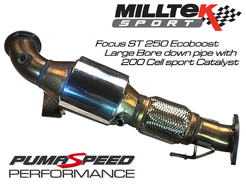 Milltek Sport Focus ST 250 Hi Flow Race Sport Cat 200 cell