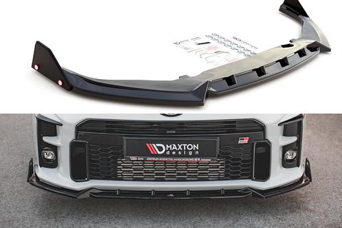 Maxton design Gloss Black FRONT SPLITTER (+FLAPS) V2 TOYOTA GR YARIS MK4 (2020-)