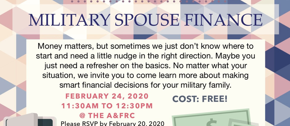 Military Spouse Finance - 24 FEB
