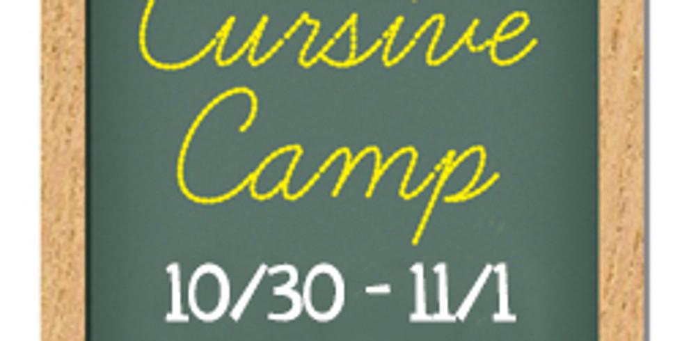 Creative Cursive Camp, Fall '19, Session 2