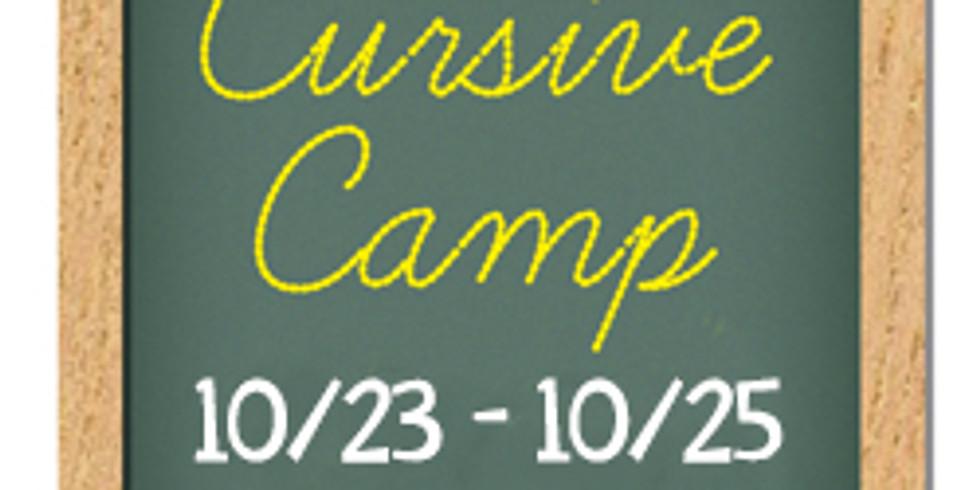 Creative Cursive Camp, Fall '19, Session 1