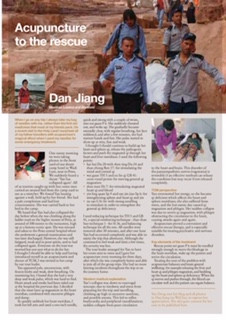 Ms Dan Jiang's article about a life rescue using acupuncture during a trip in the middle east