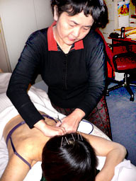 Ms Dan Jiang was treating a patient in her Sheffield Clinic