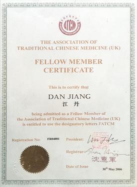 Ms Dan Jiang is the fellow of the ATCM UK