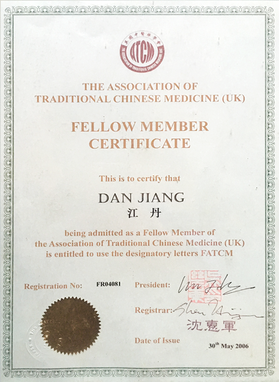 Ms Dan Jiang is the fellow of the ATCM UK