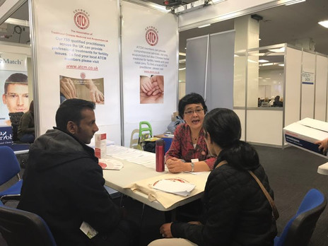 Ms Dan Jiang was answering questions from patient in the TCM week