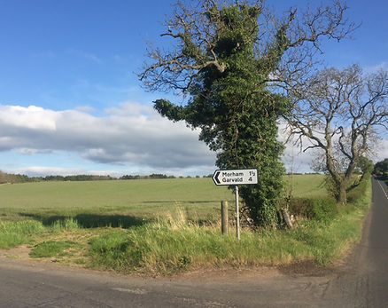 road sign showing route to Morham