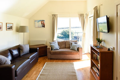 muckle snug holiday cottage east lothian living room sitting area
