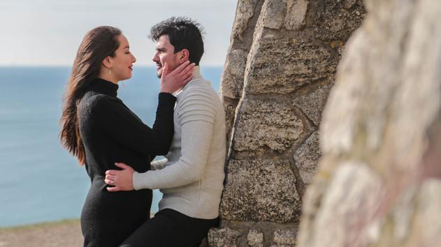 séance photo de couple à Etretat