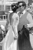 Reportage photo d'un jolie mariage rétro à la mairie de Sanary sur Mer, et sous le soleil de la Villa Brignac, Var
