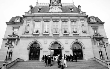 Un mariage à la mairie de Asnières sur Seine , Ile de France