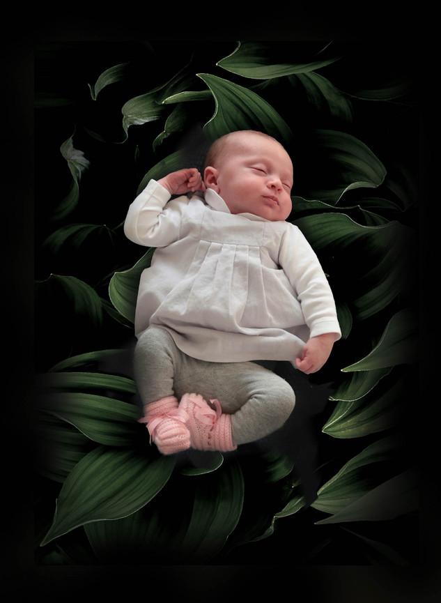 photo de nouveau né en studio