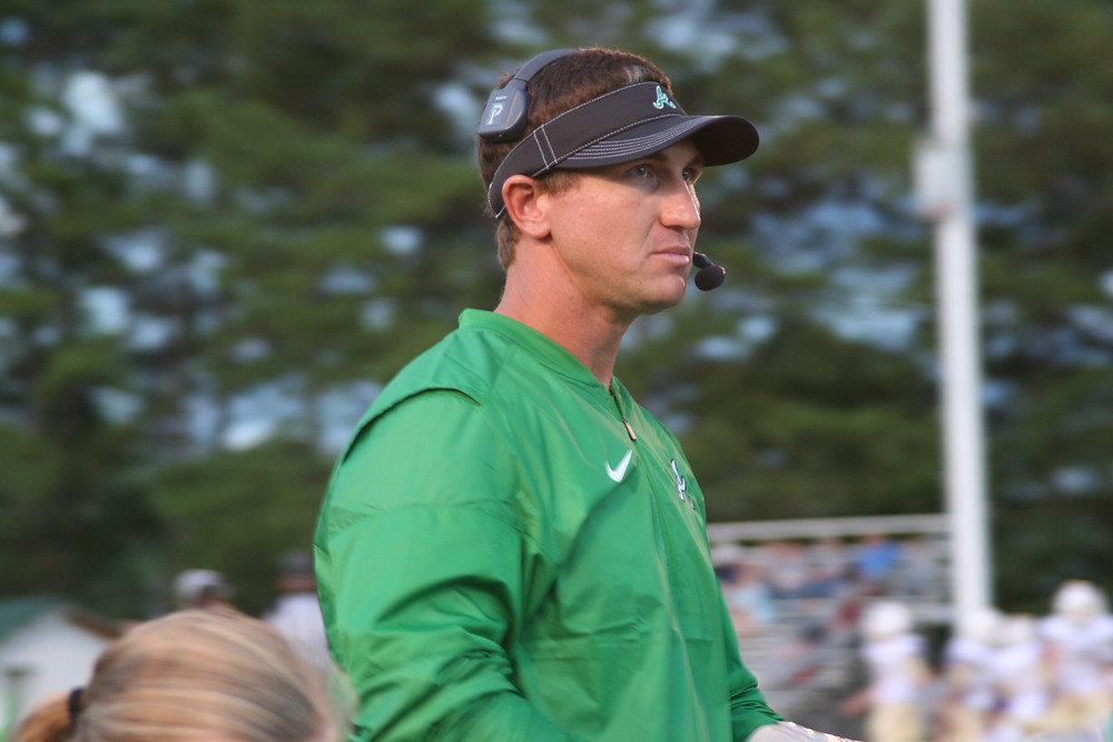 Ashville head football coach Trey Pike