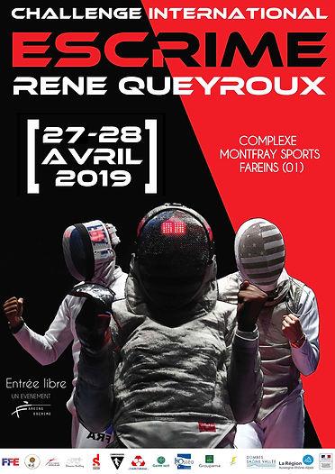 Affiche Challenge International René QUEYROUX 2019