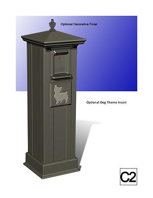 Postal Vault Side Panel Address Marker