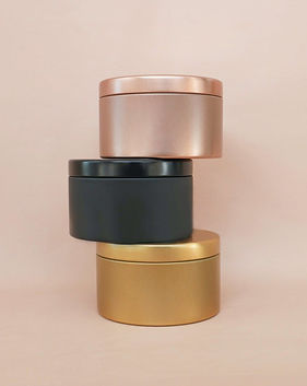 Luxury Gold and Copper Metallic Candle T