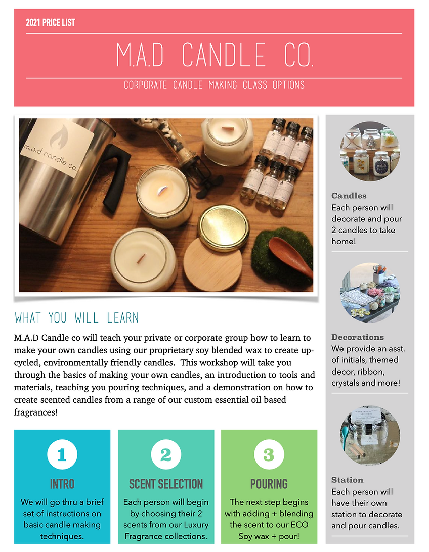 Corporate Candle Making Workshop