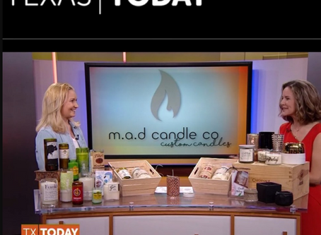 M.A.D Candle co on NBC Texas Today