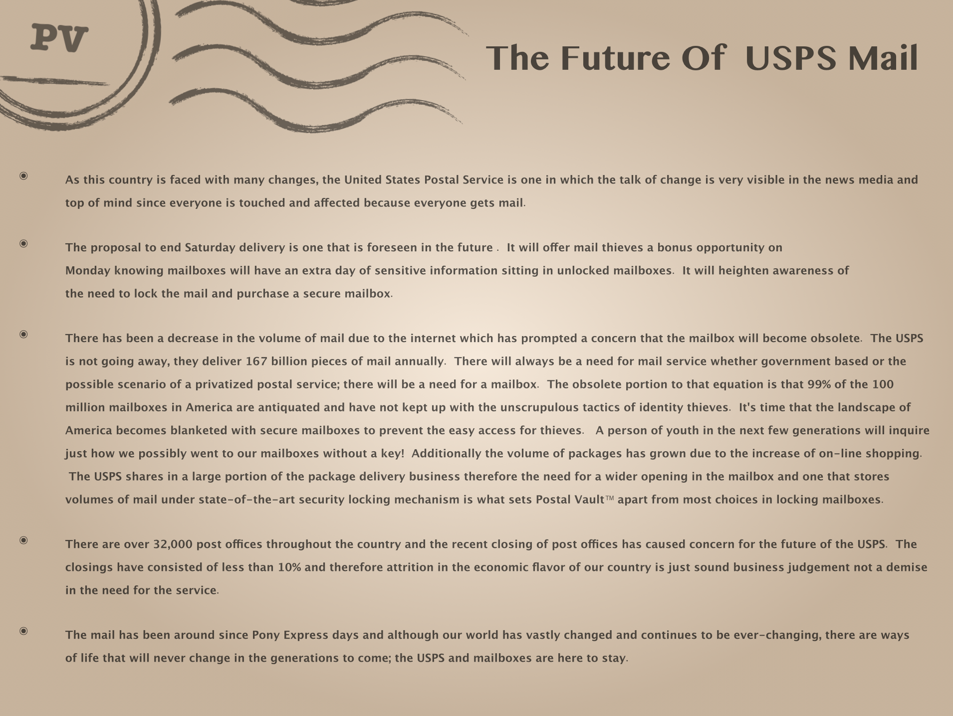 The Future Of The USPS