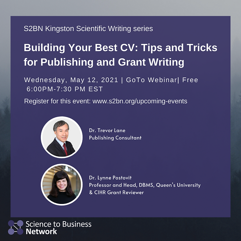 (KINGSTON CHAPTER) Building Your Best CV: Tips and Tricks for Publishing and Grant Writing