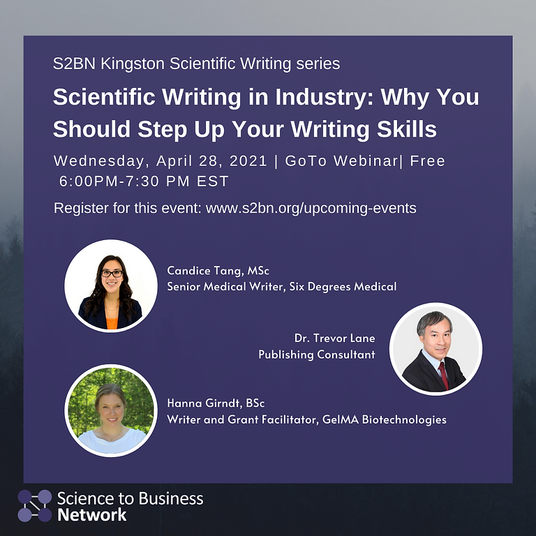 (KINGSTON CHAPTER) Scientific‌ ‌Writing‌ ‌in‌ ‌Industry:‌ ‌Why‌ ‌You‌ ‌Should‌ ‌Step‌ ‌Up‌ ‌Your‌ ‌Writing‌ ‌Skills‌