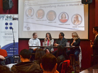 """S2BN Edmonton Panel Discussion """"Careers in the Pharmaceutical Industry- Demystifying Roles in M"""