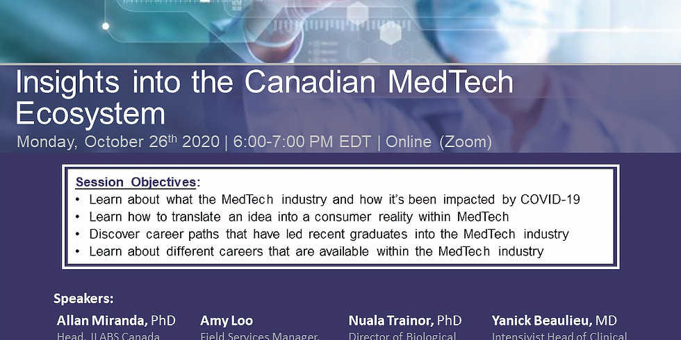 (KINGSTON CHAPTER) Insights into the Canadian MedTech Ecosystem