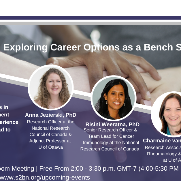 (EDMONTON) Exploring Career Options as A Bench Scientist