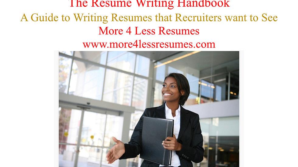 The Resume Writing Handbook