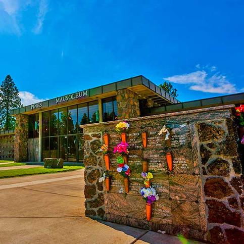 Pines Cemetery Columbarium in the Spokane Valley.