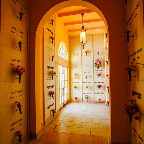 Interior Crypts at Riverside Mausoleum