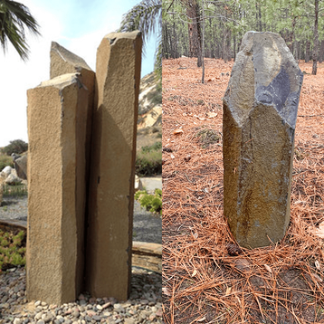 Natural basalt markers minimize the impact of manufactured markers