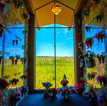 Sunset Chapel Mausoleum overlooking the