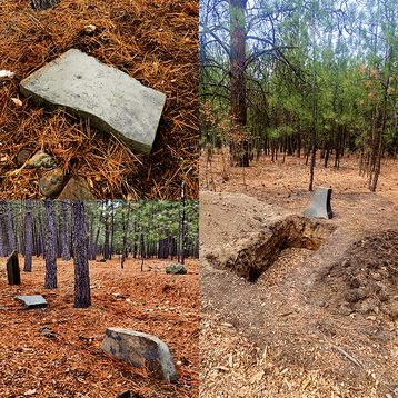 A variety of natural stone markers are available