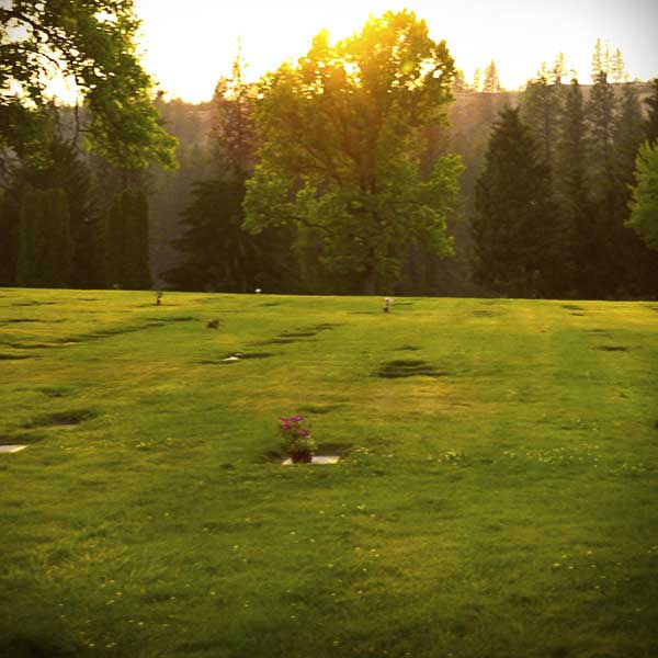 Sunset at Spokane Memorial Gardens