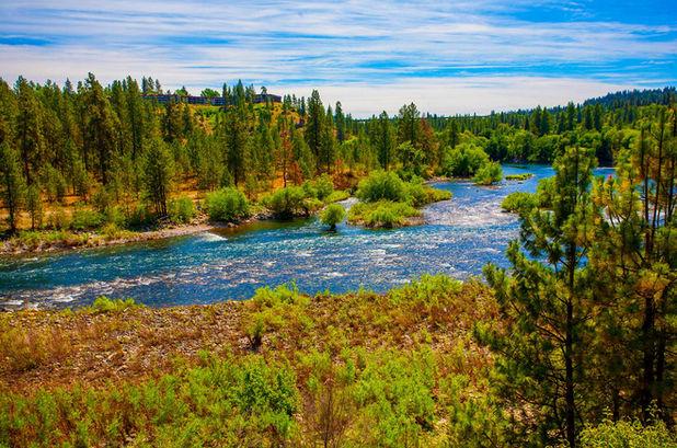 Overlooking confluence of Spokane River and Latah Creek