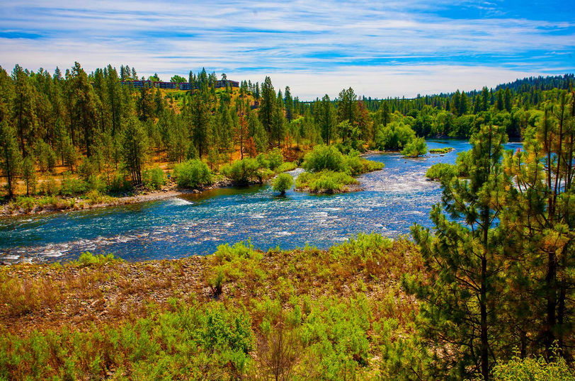 Overlooking confluence of Spokane River and Latah Creek