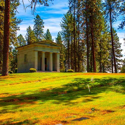 A Private Mausoleum at Riverside Memoria